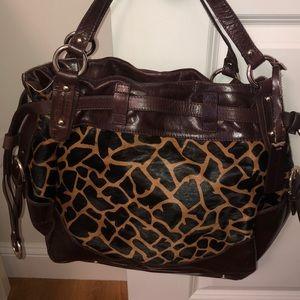 Animal Print Aqua Madonna Handbag